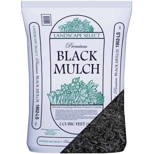 Landscape Select 2 Cu. Ft. Dyed Black Shredded Hardwood Mulch