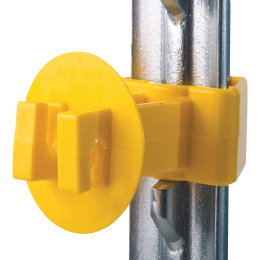 Dare Snug Snap-On Yellow Polyethylene Electric Fence Insulator (25-Pack)