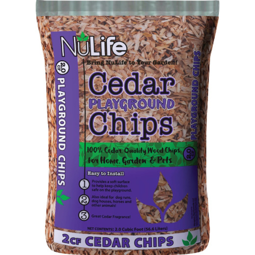 NuLife 2 Cu. Ft. Cedar Playground Mulch Chips